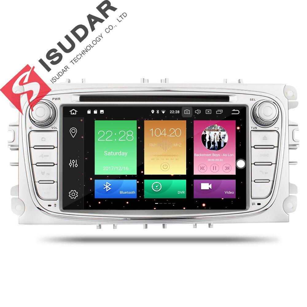 Isudar Voiture lecteur multimédia Android 8.0 GPS Autoradio 2 Din Pour FORD/Focus/Mondeo/S-MAX/C-MAX/ galaxy RAM 4 GB 32 GB Radio DSP - 2