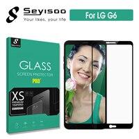 100%เดิมSeyisooพรีเมี่ยมเต็มฝาครอบป้องกันหน้าจอกระจกนิรภัยสำหรับLG G6 G 6 LGG6ความปลอดภัยจริง2.5D 9 H 0.3มิลลิ...