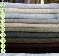 Handmade Clothing Fabric With Hemp Hemp Slub Slub Solid Thick Linen Cloth Double Sided Hanfu Dress