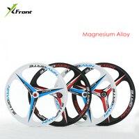 Новый бренд MTB легкий вес магниевого сплава 3 лезвия один колеса 26 дюйм(ов) колеса велосипеда горный велосипед колеса