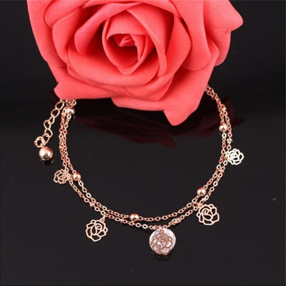 Vienkim 2018 New Sexy Chain Link Beach Anklets Pendant Crystal Rhinestone Ankle Bracelet Foot Jewelry For Women Anklets Foot