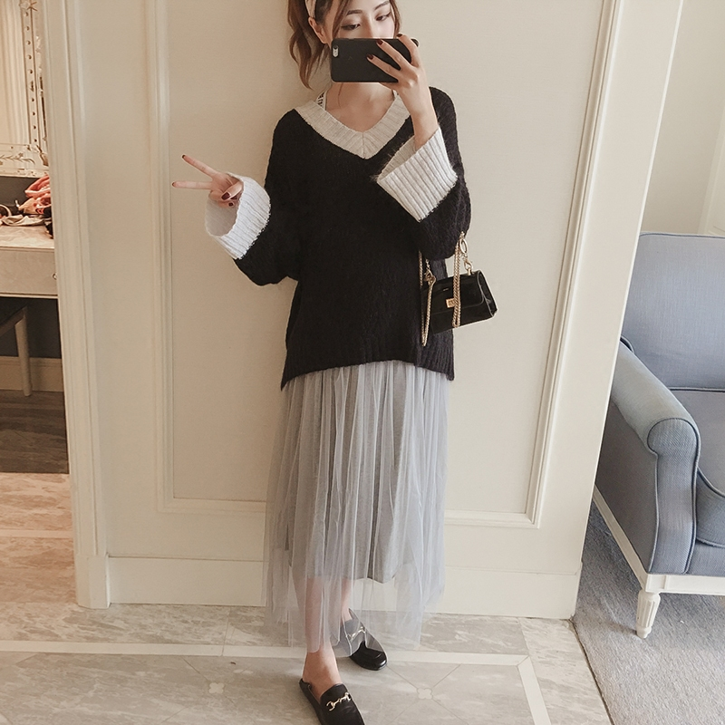2017 autumn fashion warm maternity clothes batwing sleeve loose casual knitted pullover sweater pregnancy clothes hot sale spring autumn fashion beautiful style maternity tops t shirts plus size slim casual loose casual maternity clothes t s