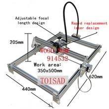 500 mw bricolage bureau mini laser gravure machine marquage sculpture machine, 350*500 visage de travail