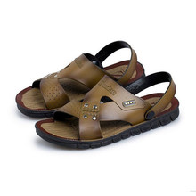 003d8b7d663f6 Antiskid men s cool slipper men s sandals casual Korean comfortable Magic  buckle breathable beach sandals men(