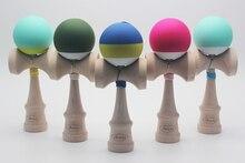 10 Красочные стили высококачественный натуральный деревянный клен Kendama 18 см шелк резиновая kendamas для детей Открытый спортивный мяч