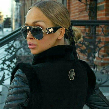 Luxury Brand Designer Women Mirror Sun glasses New Fashion Sunglasses Metal Leather Decoration Frame Men UV400 Shades OEM