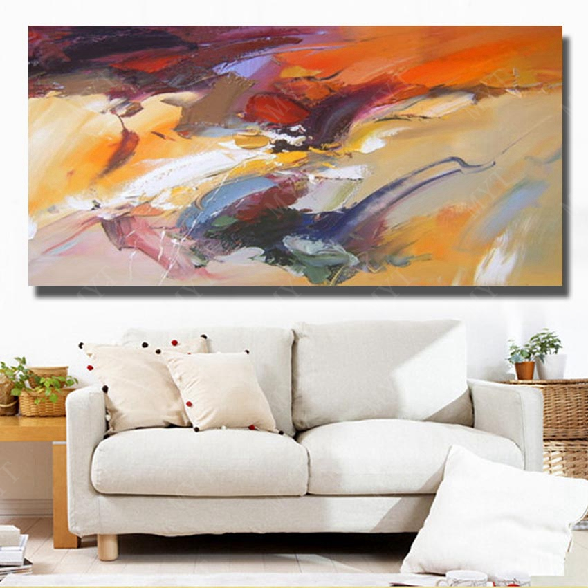 Chinese Wall Art Hand Painted Modern Abstract Acrylic Painting For Living  Room Wall Decorative Pictures No Framed Art  In Painting U0026 Calligraphy From  Home ...