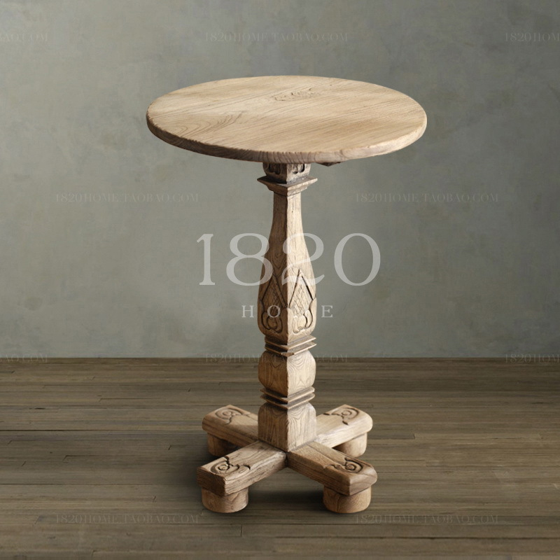 Nordic Classic French Country Carved Retro Small Round Pine Wood Side  Tables Side In Massage Tables From Furniture On Aliexpress.com | Alibaba  Group