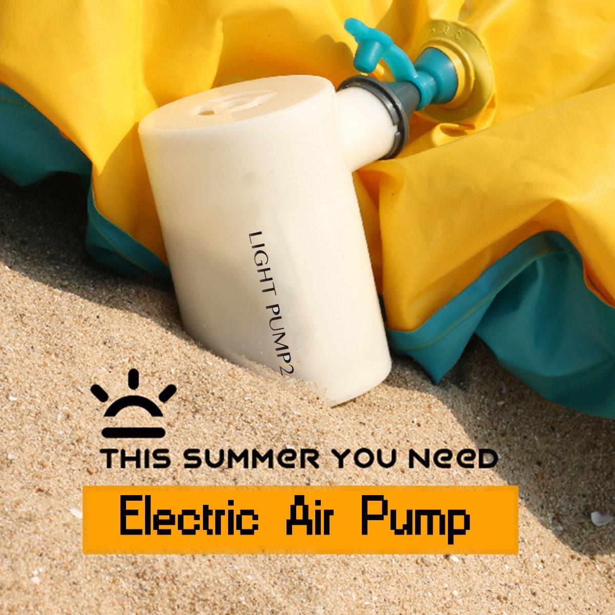 USB Electric Air Pump Outdoor Camping Inflate Deflate Pump Mini Ultralight Portable Swimming Pool Air Bed Mattress Boat Air Pump