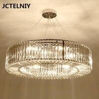 Современная хрустальная люстра хромированная светодио дный круглая светодиодная гостиная хрустальная лампа для украшения комнаты