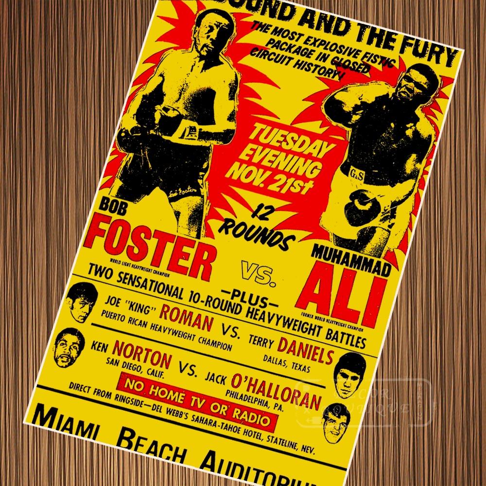 Vintage Muhammad Ali Boxing Advertisement Retro Poster ...