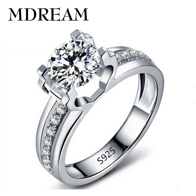 factory price 70 silver ring and silver plated with aaa zircon wedding for female fancy beautiful rings jewelry gift lsr066 - Beautiful Wedding Rings