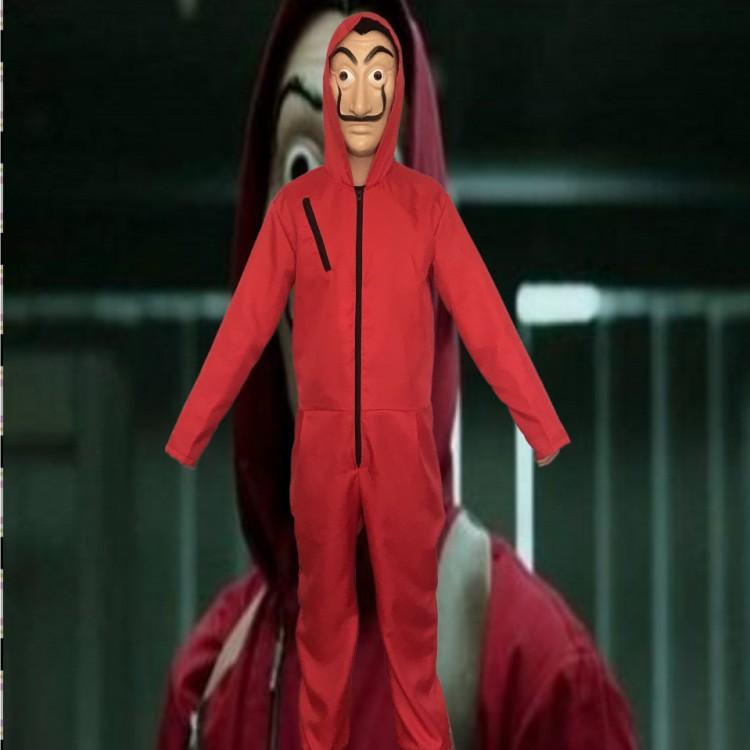 La Casa De Papel Salvador Dali Kids Cosplay Costume Salvador Dali money heist Cosplay Costume with the mask