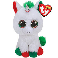 "Ty Beanie Boos 6"" 15cm Candy Cane the Unicorn Dragon Llama Swan Plush Large Big-eyed Stuffed Animal Collection Doll Toy(China)"