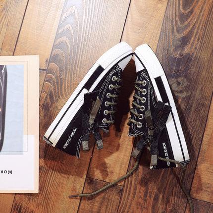 Mode Plat 2018 De Dames Harajuku 1 Fond 2 Sauvage Blanc Chaussures Toile Femmes Automne Nouvelle Confortable ppqFzT