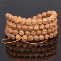 Ubeauty Natural Rudraksha Japa Mala 108 Bead Buddhist Prayer Meditation Bracelet Buddha Charm Bangle Lucky Wholesale Jewelry