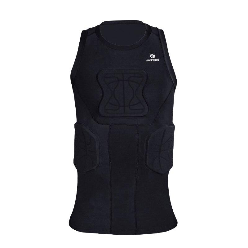 Kuangmi costume d'entraînement pour hommes collants d'entraînement de football en cours d'exécution gilet de basket Protection vêtements de sport anti crashproof - 2