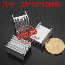 Kostenloser Versand Großhandel 100PCS Aluminium to220 kühlkörper 20*15*11mm Hohe qualität heizkörper silber farbe IC kühlung