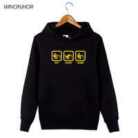 Eat Sleep Game Gamer Hoodies Men Winter Funny Fleece Sweatshirts Humor Gift Tops Pullovers Camisetas Masculina