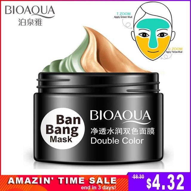 BIOAQUA Ban Bang máscara Facial de doble Color crema hidratante para la cara limpieza profunda piel poro acné Blackhead tratamiento Facial