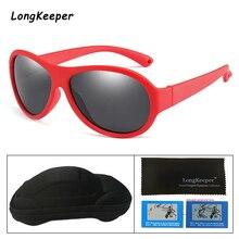 2019 Fashion Kids Polarized Sunglasses Oval Silicone Flexible Safety Glasses For Boys Girls Anti-Glare Child Case Box