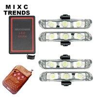 DRL 4X3LED Wireless Remote Controlled LED Flasher Stroboskopu Ostrzeżenie Światło Bar 12 V ciężarówka Samochodów Awaryjne pogotowia policji światła lampy błyskowej