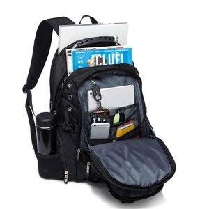Image 3 - Waterproof Oxford Swiss Backpack Men 17 Inch Laptop backpacks Travel Rucksack Female Vintage School Bags Casual bagpack mochila