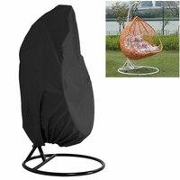 Jardim pendurado balanço cadeira capa à prova de poeira à prova ddustágua uv proteção universal poliéster conjunto de móveis ao ar livre|Balanços para pátio| |  -