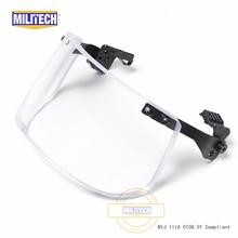 MILITECH NIJ 0108.01 IIIA 3A Bulletproof Visor สำหรับ ACH FAST หมวกกันน็อกยุทธวิธีกระสุน Visor Bullet Proof หน้ากากสำหรับหมวกกันน็อก