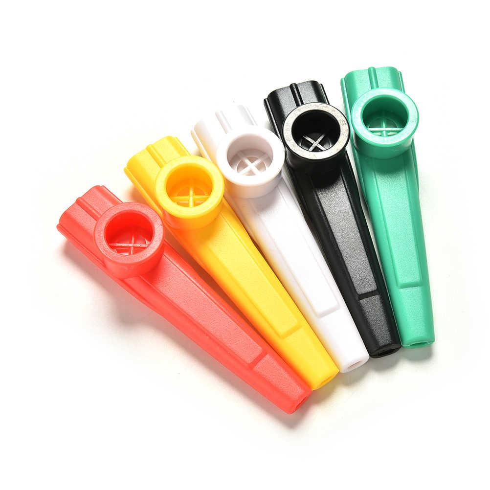 1pcs Plastic Kazoo 5 Mixed Color Wind Instrument Kazoo Instrument Gift Instrument for Kids Music Lovers kazoo Party Supplies