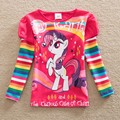 Neat retail 2016 new style comfortable lovely My Little Pony pattern cotton baby girl clothes long sleeve t shirts LH606#