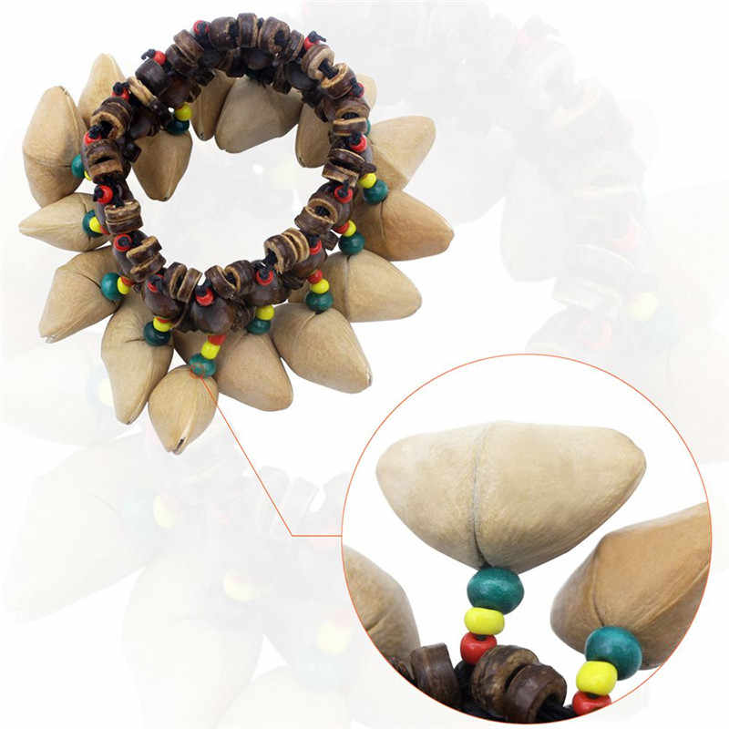 IRIN Handmade Nuts Shell Bracelet Handbell for Djembe African Drum Conga Percussion Parts Accessories For Music Instruments