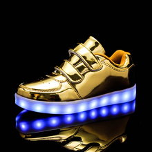 Hot Boys Girls Kids Children USB Charging LED Light Sneaker Fashion Glowing Shoes Lightweight Breathable Luminous