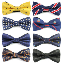 цена на 8pcs Set Men Bowtie Polyester Shirts Bow Tie For Men Business Wedding Bowknot Adult Cartoon Bow Ties Vestidos Gravata Borboleta
