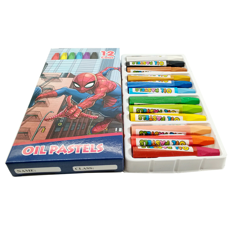 12pcs/Set Cartoon spiderman crayon Colored Pencils Kids Drawing Writing High Quality Children Pencils School Study Useful tool assorted cartoon pencils 5 pack