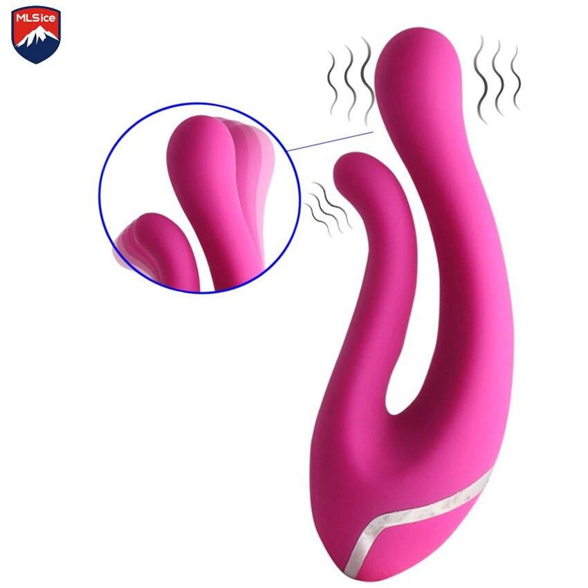 MLSice Sex Toys For Women Passion Finger Dual Vibration Clitoral Stimulators 10 Speeds Barbed G Spot Dildo Vibrator Waterproof