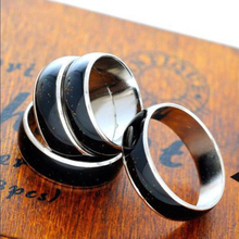 New fashion No words titanium steel temperature change color finger ring Gifts Boutique jewelry  temperature ring non-mainstream