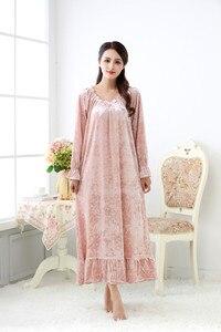 Image 5 - Fdfklak robe de nuit longue en velours pour femme, tenue de nuit en velours, grande taille, printemps automne, nouvelle collection pyjama pour femmes robe de nuit Q1468