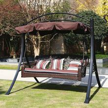 210x145cm Outdoor Swing Canopy Replacement UV30+ Sunshade Park Seat Garden Waterproof Dust Cover For Park Seat Patio Yard Ivory park swing garden swing amusement park equipment