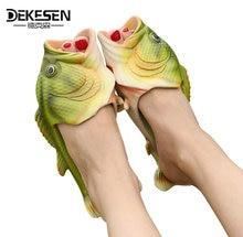 2017 ручной росписью Шлёпанцы для женщин, рыбы тапочки женщина личность рыбы сандалии женские bling шлепанцы слайды рыбы Пляжные Тапочки