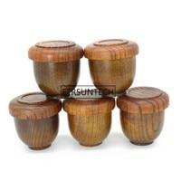 20 штук японский Стиль деревянные чашки с крышкой живота Чай чашки традиционный ручной работы из натурального дерева вина чашки Посуда