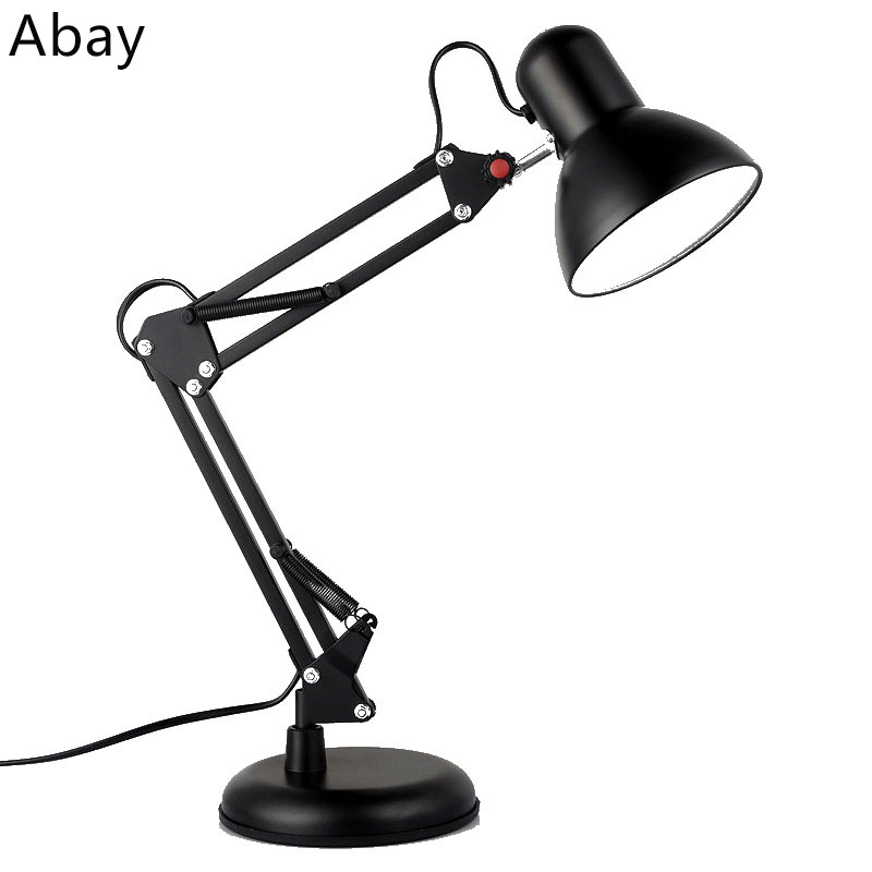 Clip type LED folding table lamp Eye protection learning American rocker arm work sparrow light bedroom small table lamp american long arm folding clip table lamps for bedroom reading table light led eye protection work study desk lamp dimmable