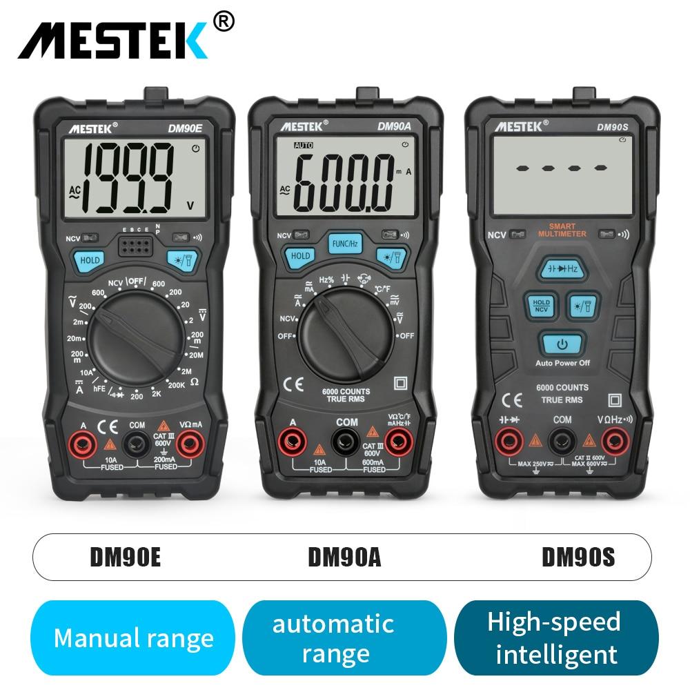 MESTEK Auto Faixa de Multímetro Digital de 6000 Contagens de Alta Velocidade Testador Inteligente NCV Verdadeira RMS Temperatura Universal Multimetro