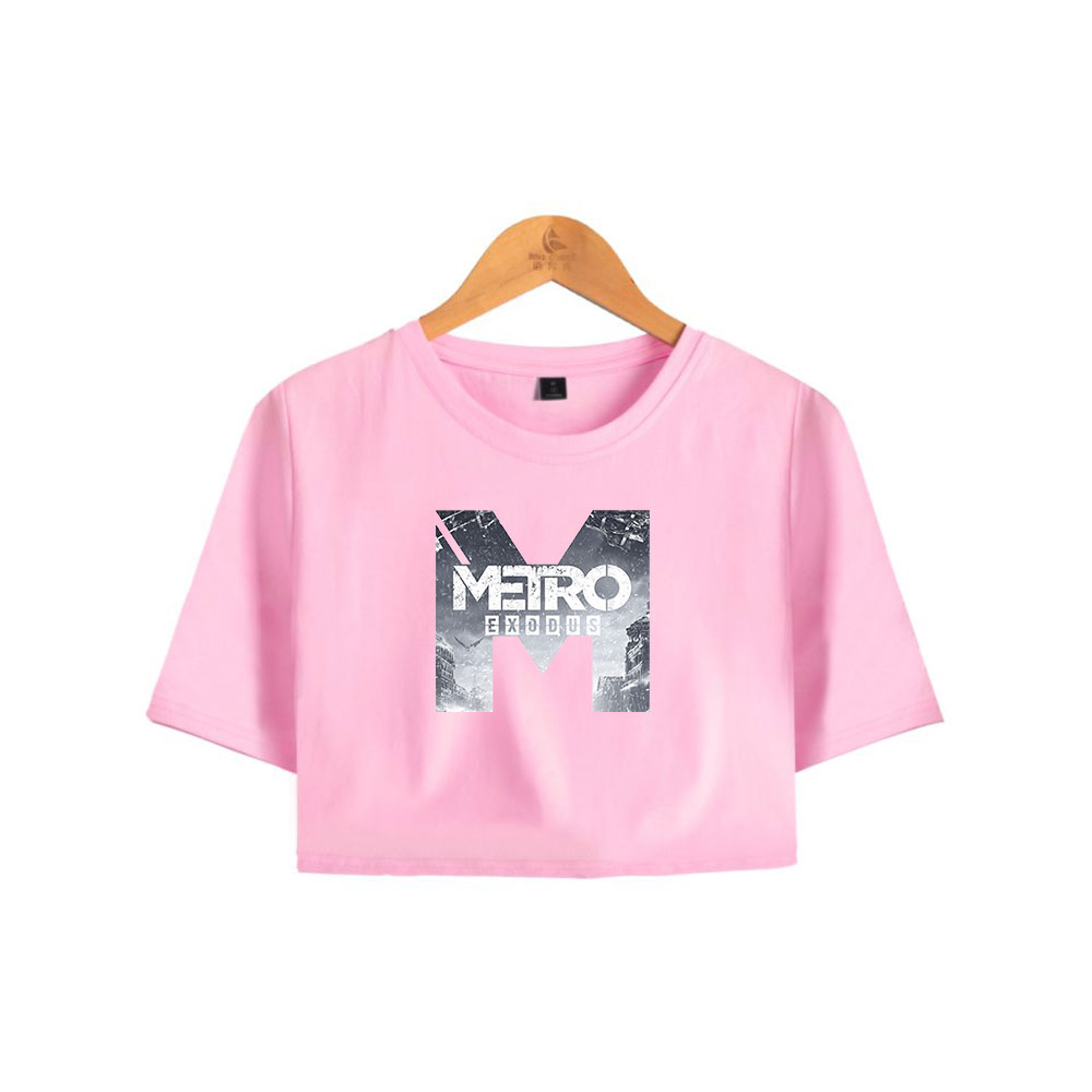 Metro Exodus Fashion Printed Women Crop Tops Summer Short Sleeve Tshirts 2019 New Arrival Hot Sale Casual Streetwear T Shirts