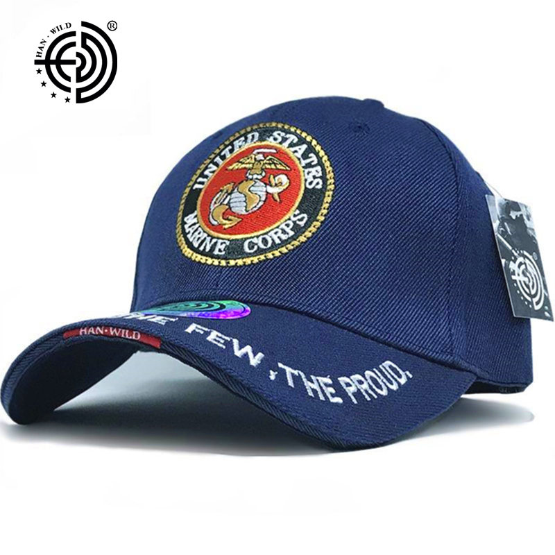 HAN WILD Brand US Army Marines Caps Mens Cap Snapback Tactical Baseball Caps Strap back Mountaineer Travel Hat Bone Aba Curva бейсболк мужские