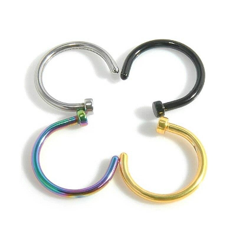 Nose-Ring C-Clip Lip Piercing Body-Jewelry Fake Hoop Women Painless Burun