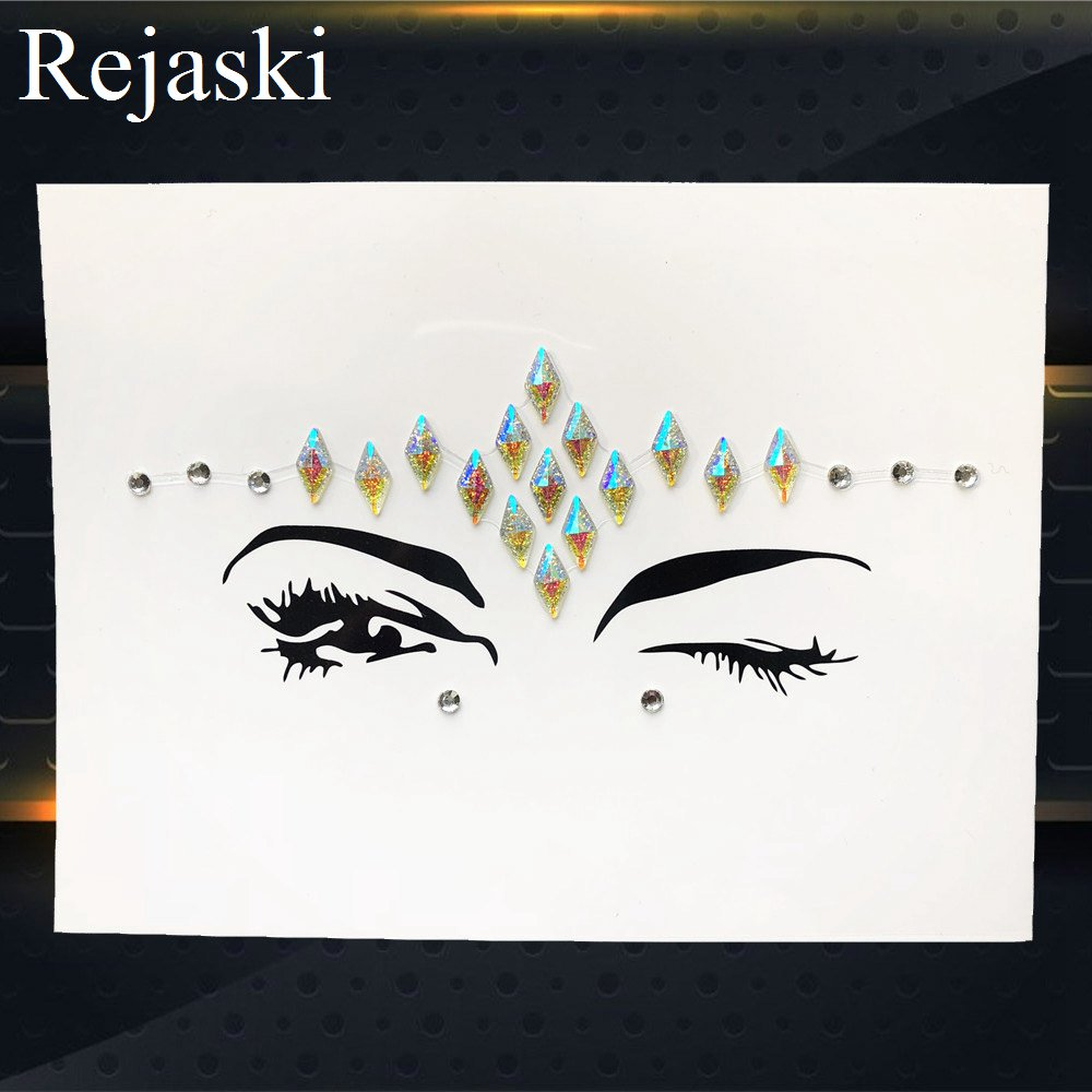 Hot Sale Temporary Eye Gems Tattoo Stickers Girls Xmas Gifts Women Eyeliner  Decor Flash Face Colorful Rhinestone Jewel Evening-in Temporary Tattoos  from ... 277f4913a5b1