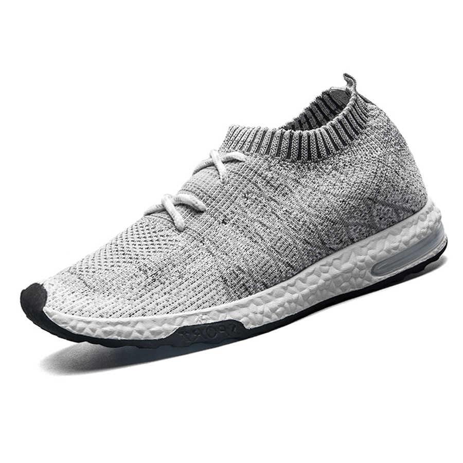 Мужская Трикотажная обувь; мужские кроссовки; размеры 39-44; мужские модные носки; дизайнерская Повседневная обувь; коллекция 2018 года; Мужская Летняя обувь