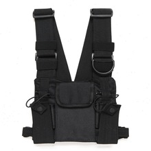 Radio Chest Harness Chest Front Pack Pouch Holster Vest Rig Carry Cade for Two Way Radio