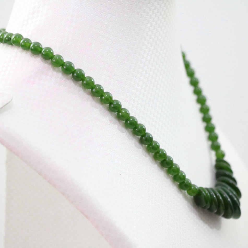 """Новый Тайвань Зеленый Натуральный самоцвет халцедон jades 6 мм, круглые бусины дамское ожерелье для женщин элегантная цепочка колье ювелирные изделия 18 """"B1027"""
